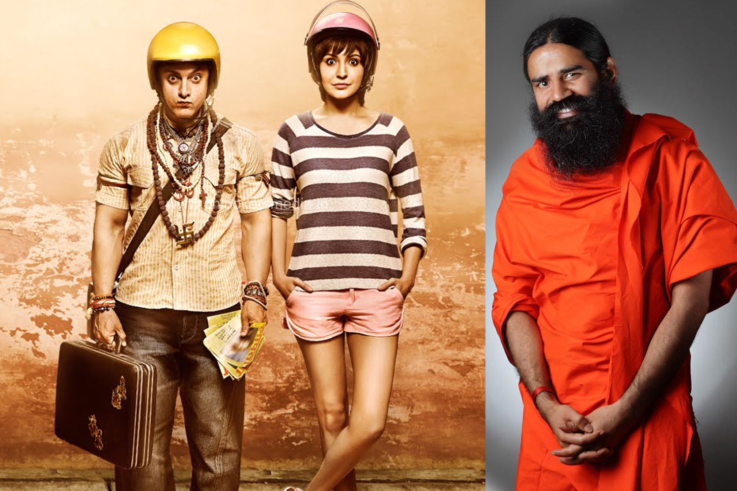 Baba Ramdev, the new WRONG NUMBER for online medias-Boycott PK-Aamir Khan-Onlookers Media