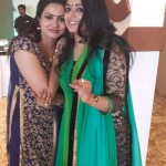 Kavya Madhavan and Sheelu Abraham at Anoop Menon's Wedding Reception-Onlookers Media