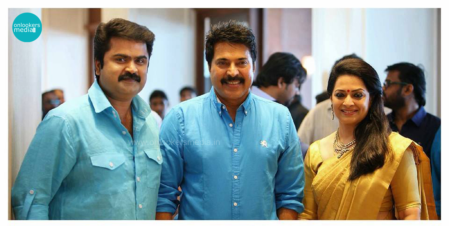 Mammootty at Anoop Menon's Wedding Reception-Stills-Images-Photos-Onlookers Media