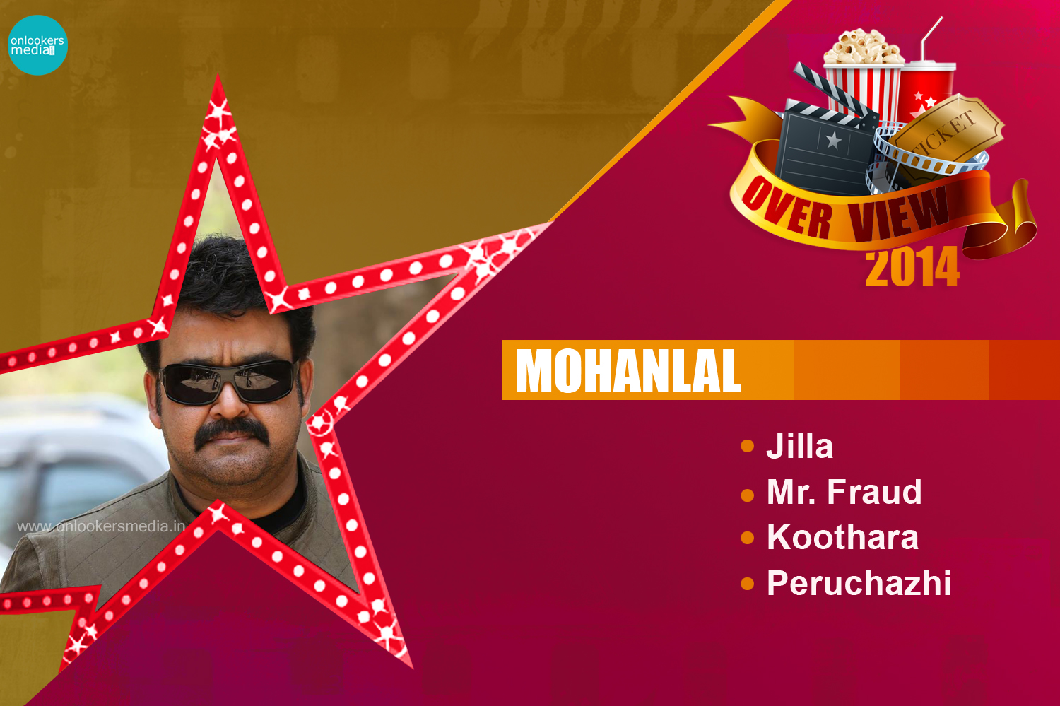Mohanlal 2014 Overview-Hit-Flop Movies-Jilla-Mr.Fraud-Koothara-Peruchazhi-Onlookers Media