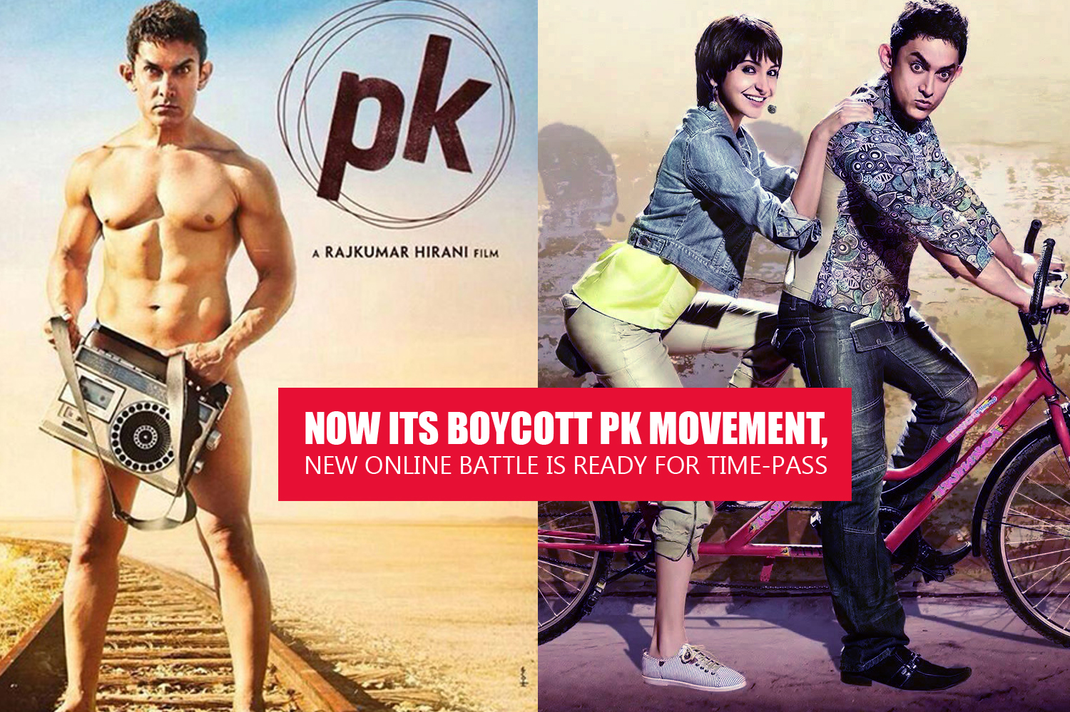 Now its Boycott PK movement, new online battle is ready for time-pass-Aamirakhan-Anushka Shetty-Onlookers Media;