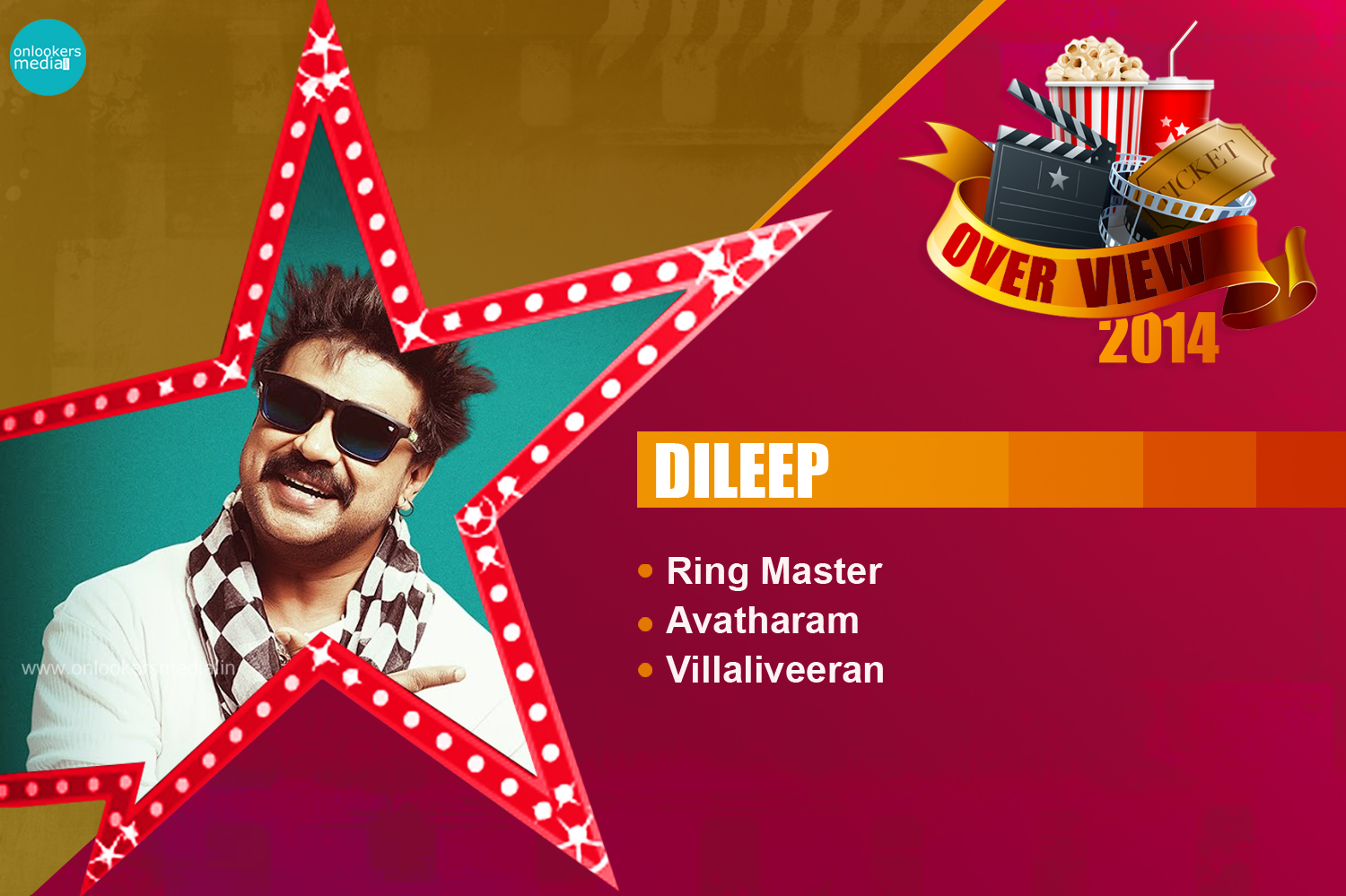 Dileep 2014 Overview-Report-Hit Flop Movie List-Ring Master-Avatharam-Villali Veeran-Onlookers Media