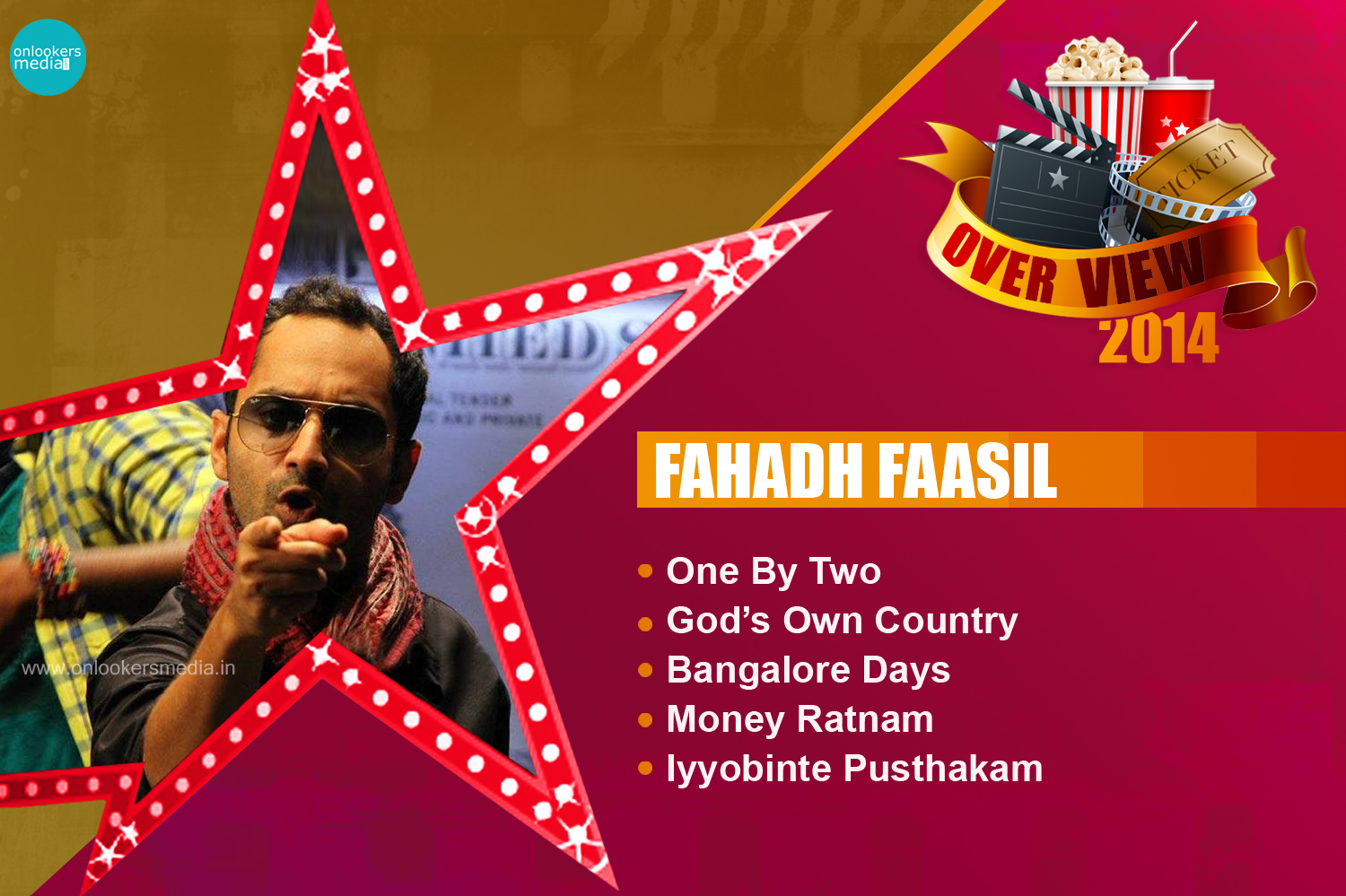 Fahadh Faail 2014 Overview-Report-Hit Flop Movie List-One By Two-Onlookers Media