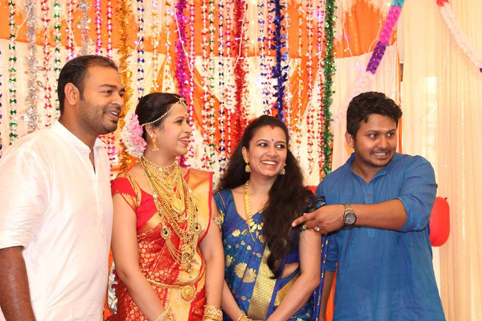 Actress Sadhika Wedding Stills Reception Videos Onlookers Media
