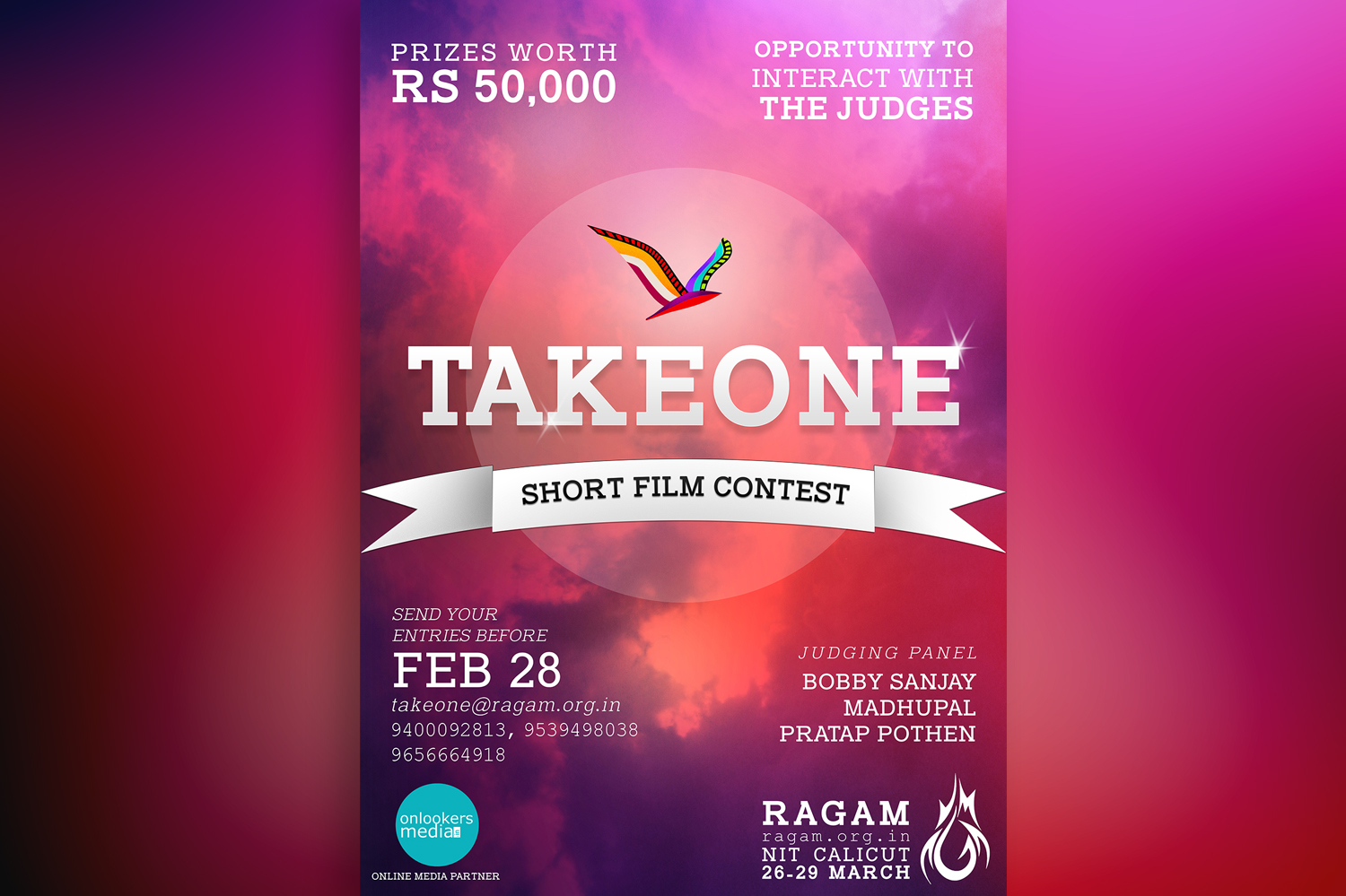 TakeOne short film contest-NIT calicut-Onlookers Media