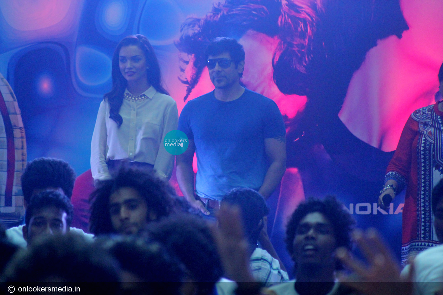 I promotional function at Lulu mall-Kerala-Vikram-Amy Jackson-Onlookers Media