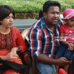 Director Roopesh Peethambaran with family at You Too Brutus Location-Onlookers Media (1)