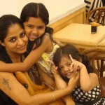 Poornima Indrajith with daughters-Onlookers Media