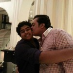 Suresh Gopi with son
