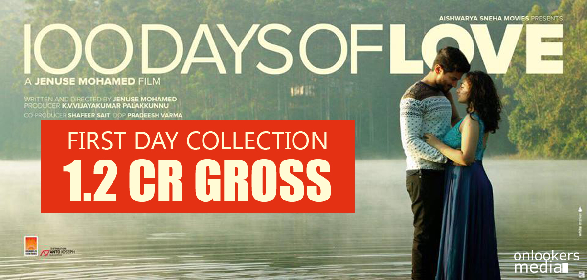 100 Days Of Love First Day Collection Report-Dulquer Salmaan-Nithya Menon-DQ-Malayalam Movie 2015-Onlookers Media