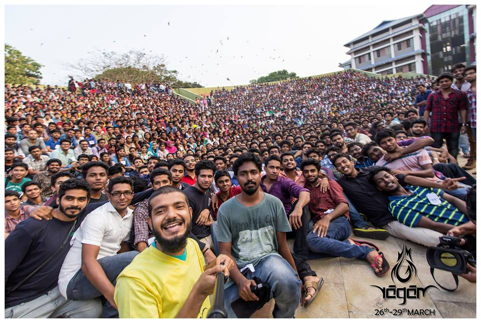 A selfie for the Limca book of world records -NIT Calicut-Ragam fest-Onlookers Media