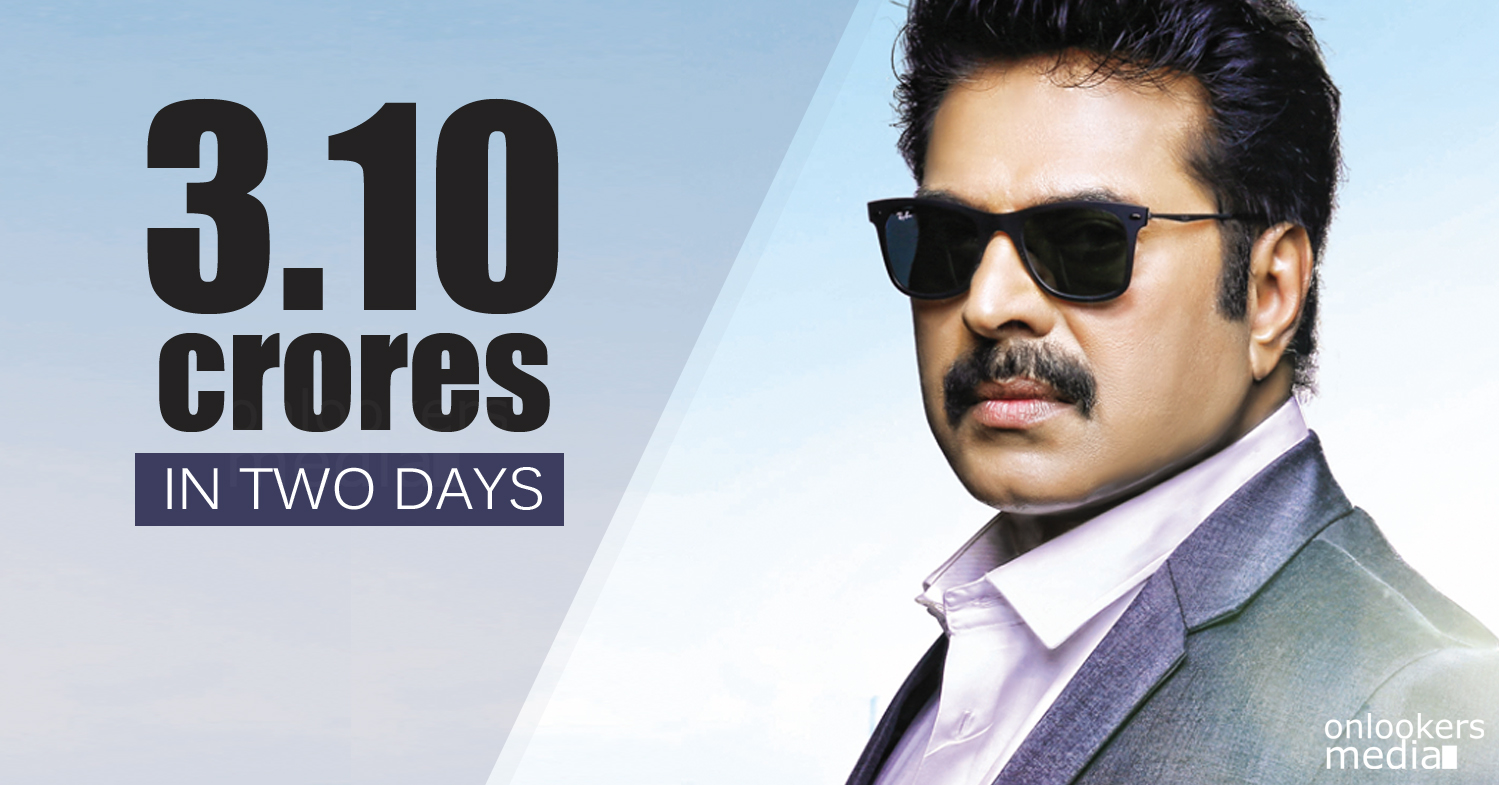 Bhaskar The Rascal 2 Days Collection Report-Mammootty-Siddique-Nayanthara-Onlookers Media