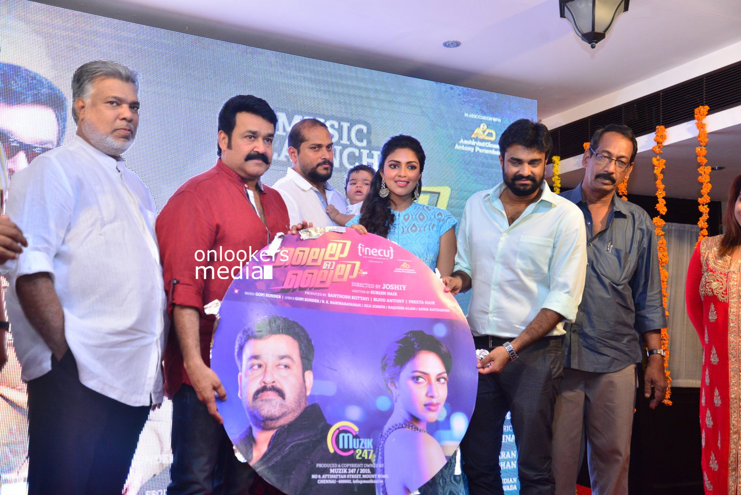 Lalila O Laila Audio Launch Stills-Images-Mohanlal-Amala Paul-Malayalam Movie 2015-Onlookers Media