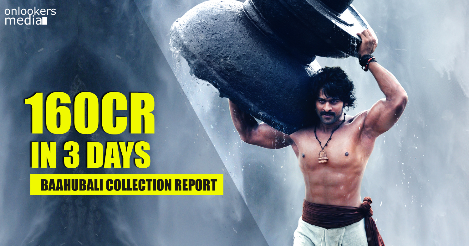 Baahubali 3 days collection report-Prabhas-SS Rajamouli