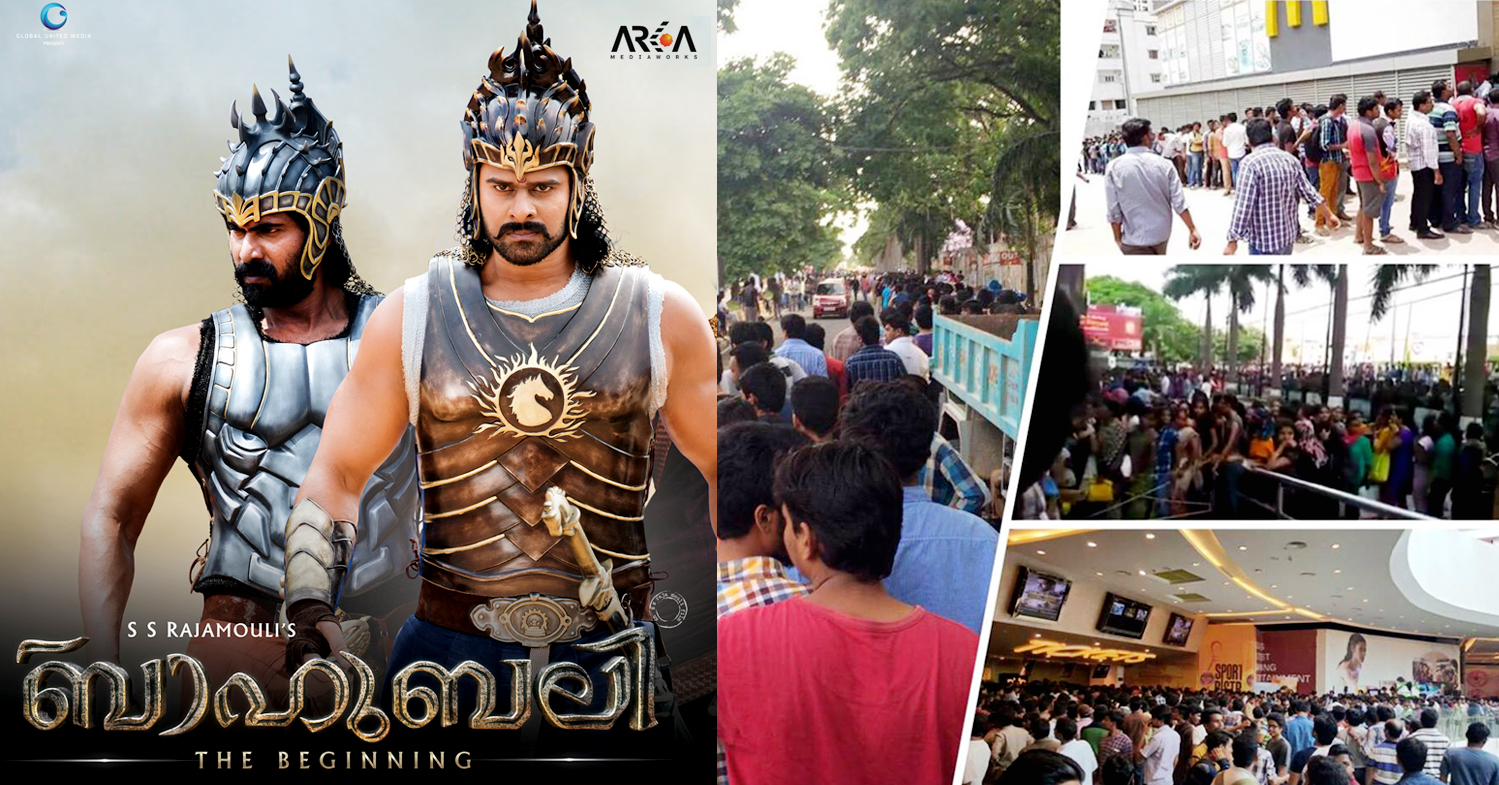 Baahubali started to make waves with advance booking itself