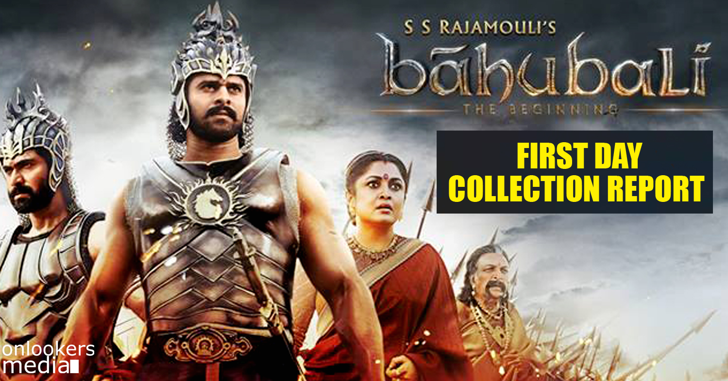 Bahubali first day collection report-SS Rajamouli-Prabhas