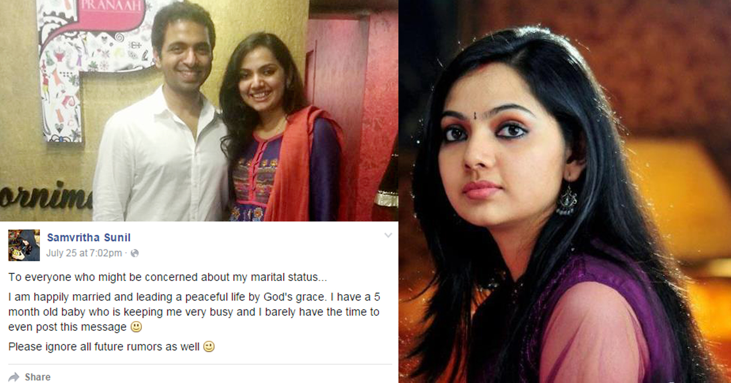 Samvritha Sunil denies divorce rumors
