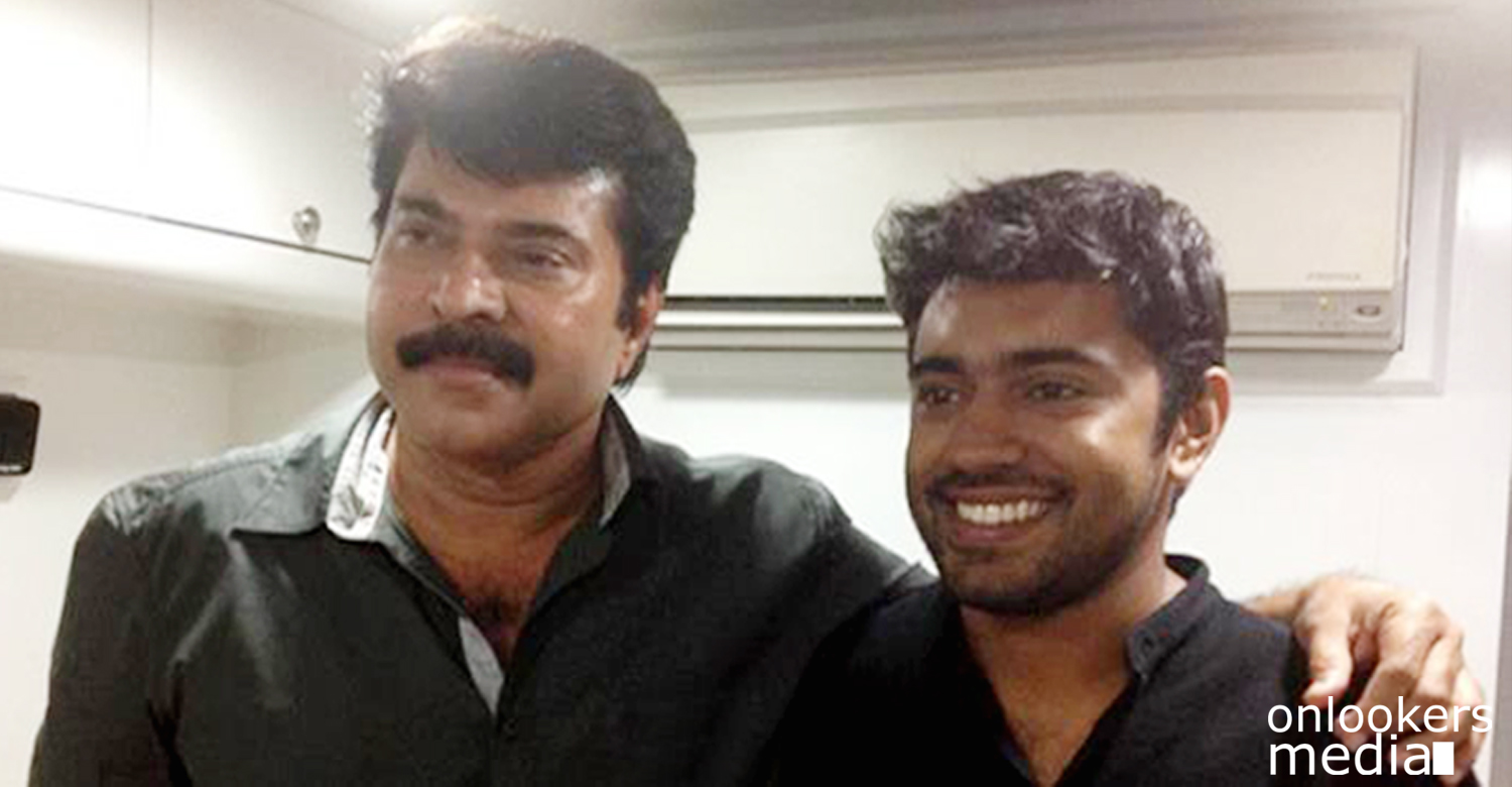 Nivin Pauly with Mammootty