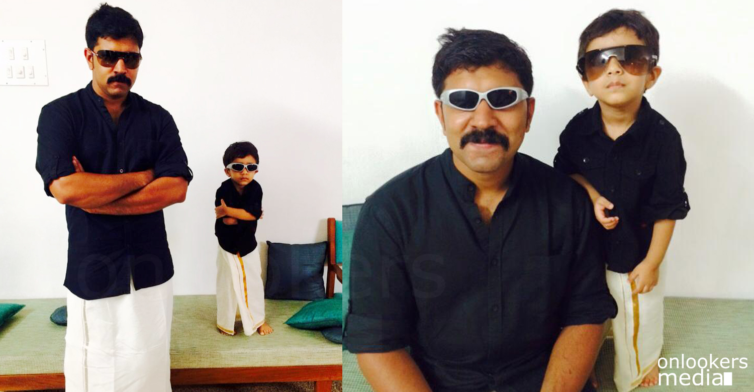 Nivin Pauly with son Daveed Pauly-Premam style dressing