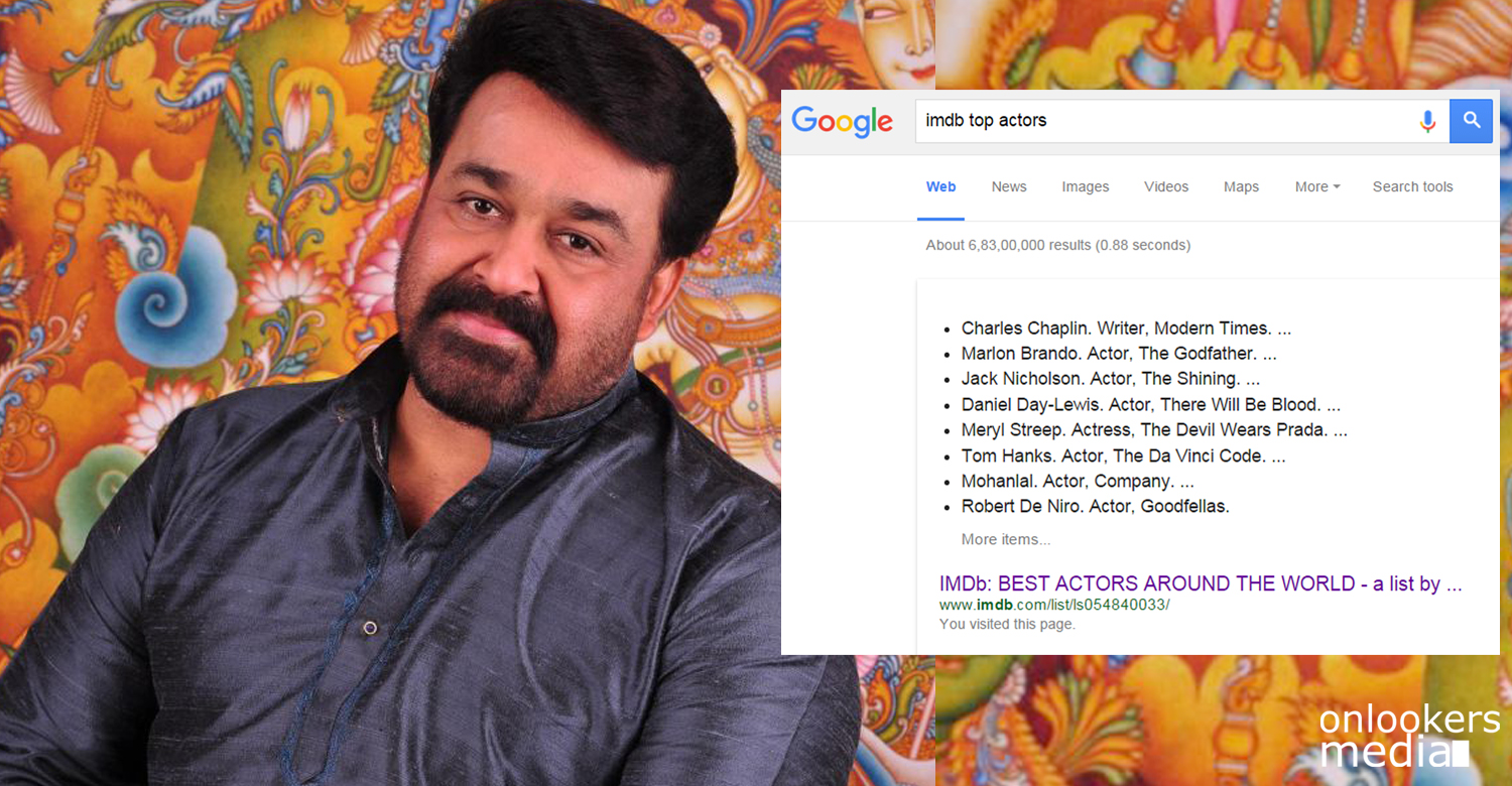 Best actors in world-Mohanlal in IMDB top actors list