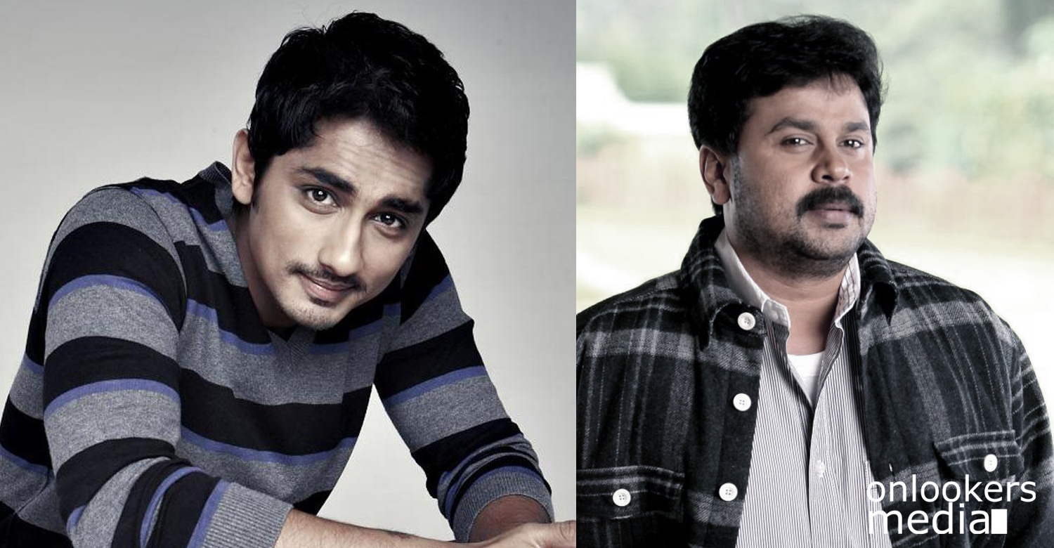 Siddharth to make his Mollywood Debut in a Dileep starrer