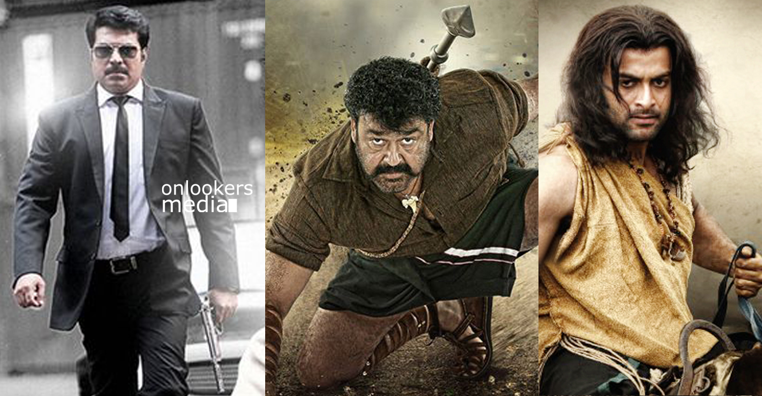 Upcoming big budget films in Mollywood-Megastar 393-Puli Murugan-Syamanthakam