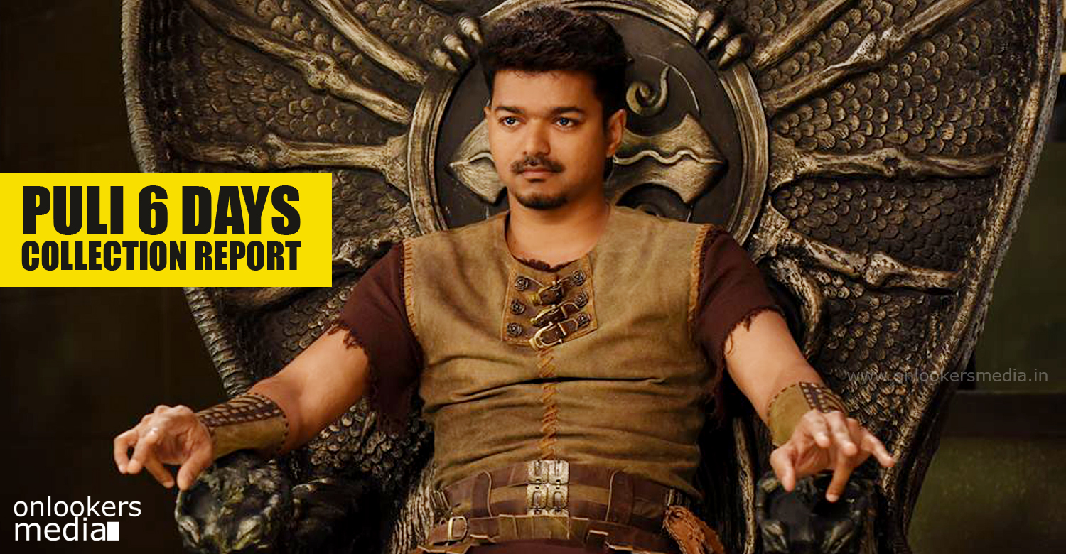 Puli 6 days collection report-Vijay-Sridevi-Sudeep