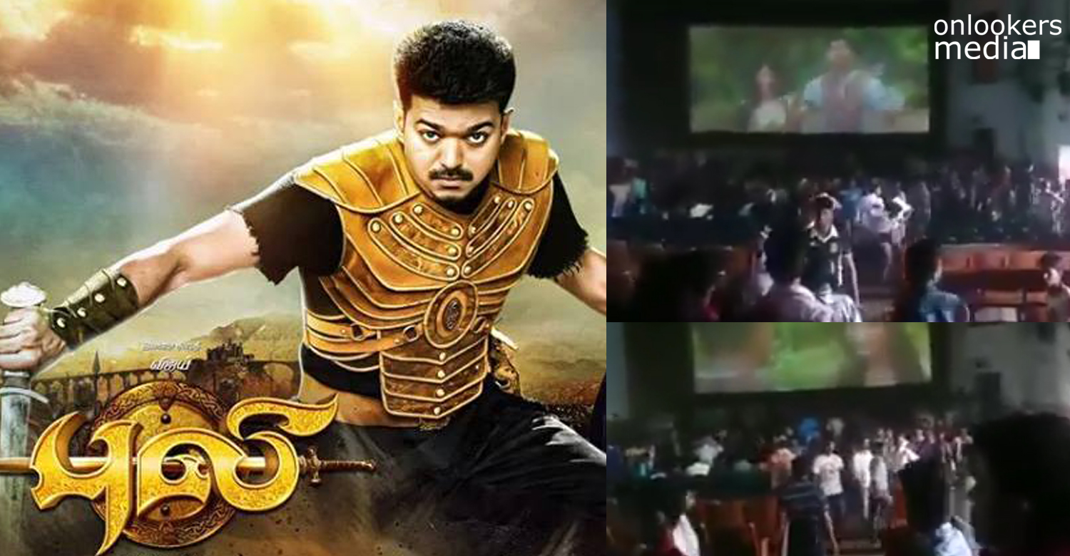 Puli not up to the standard-Theater attacked by fans
