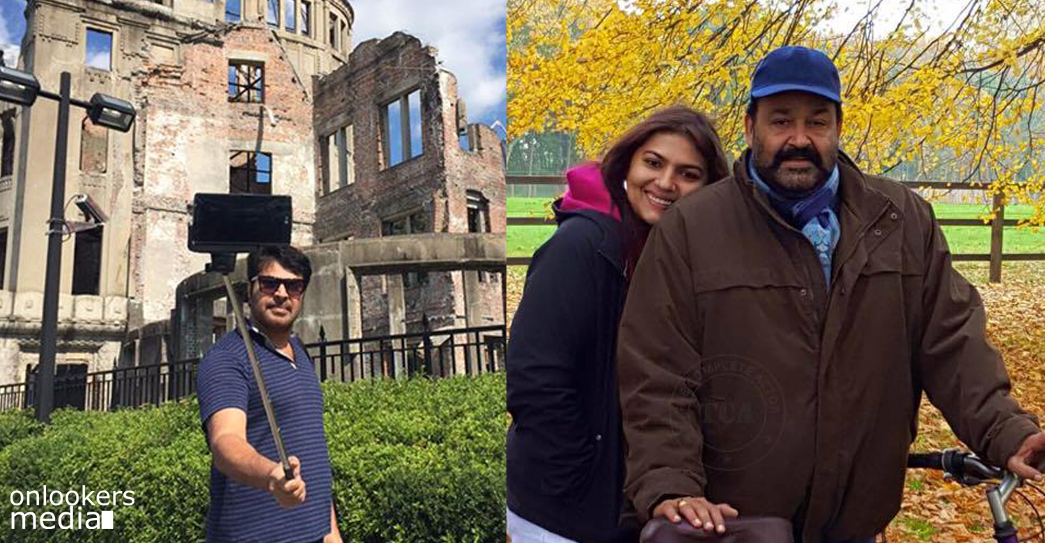Mammootty and Mohanlal now celebrating rare Holidays