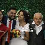 Archana Kavi, Archana Kavi wedding stills, Archana Kavi marriage photos, Abish Mathew wedding, Malavika Mohanan, Archana Kavi wedding reception, Archana Kavi husband, malayalam actress Archana Kavi marriage