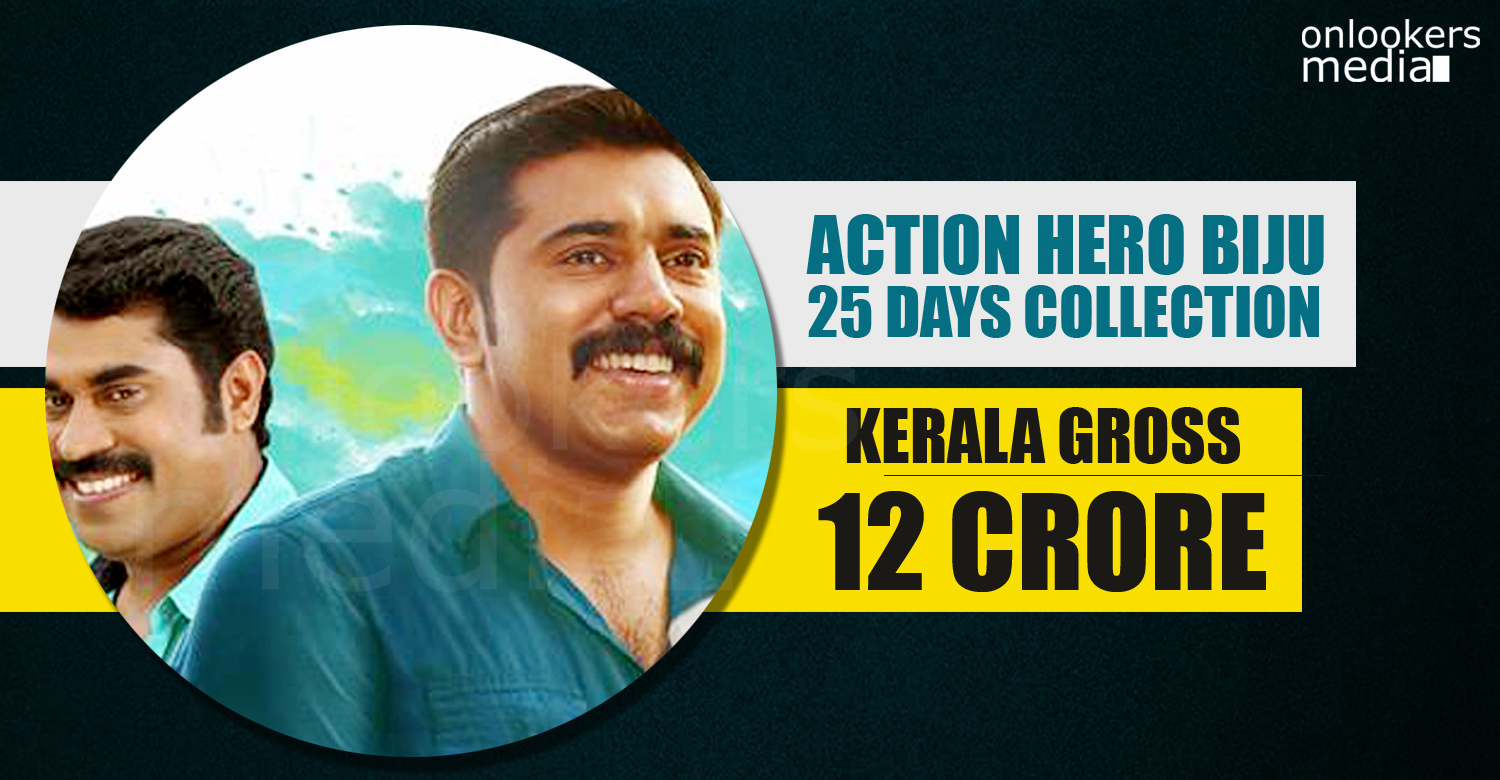 Action Hero Biju Collection Report, Action Hero Biju 25 days collection, nivin pauly Action Hero Biju movie, malayalam movie collection report, nivin pauly hit movie, hit malayalam movies 2016