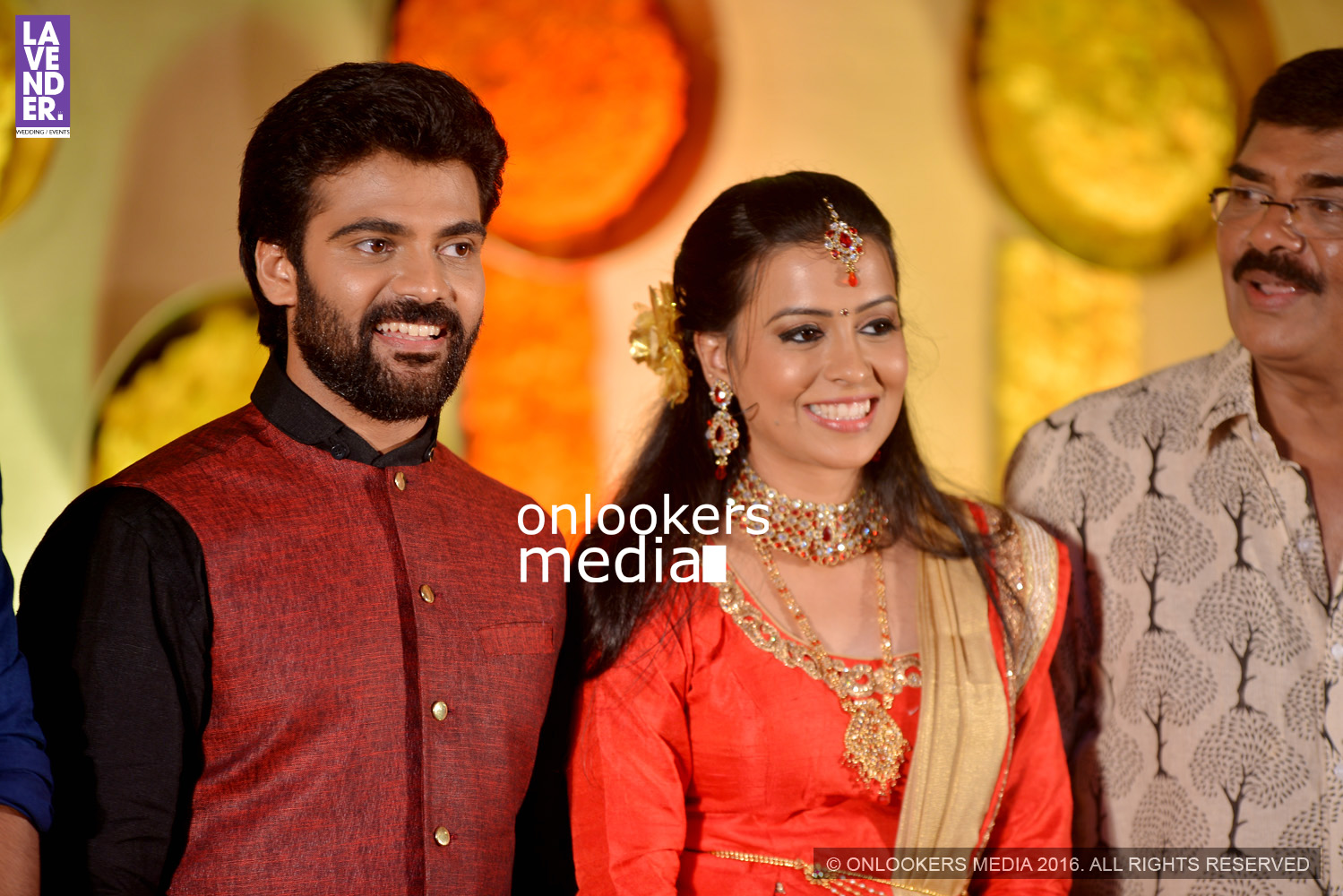 actor Vijayaraghavan, Vijayaraghavan son wedding reception, lavender wedding and events, devadevan wedding photos, mammootty new look, mammootty in thoppil joppan, kavya madhavan in saree, malayalam actress photos