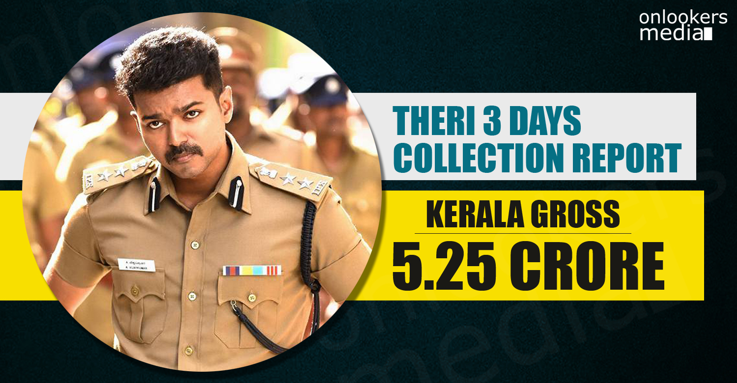 Theri vijay, Theri Kerala Collection, theri collection report, theri 3 days collection report, theri total collection, theri hit or flop, theri kerala first day collection