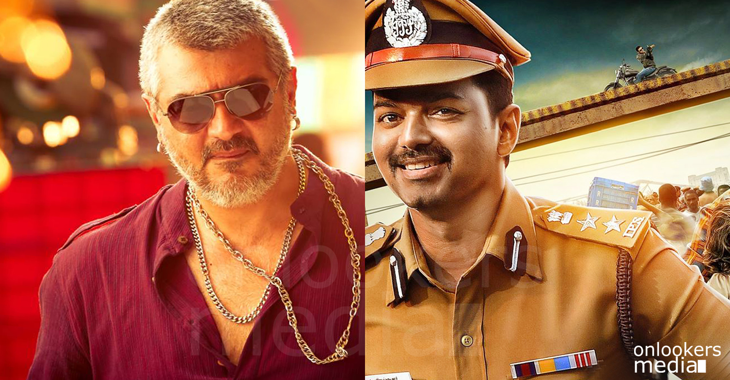 Theri first day collection, theri vijay, theri collection report, vijay in theri, theri break vedalam collection, ajith vijay