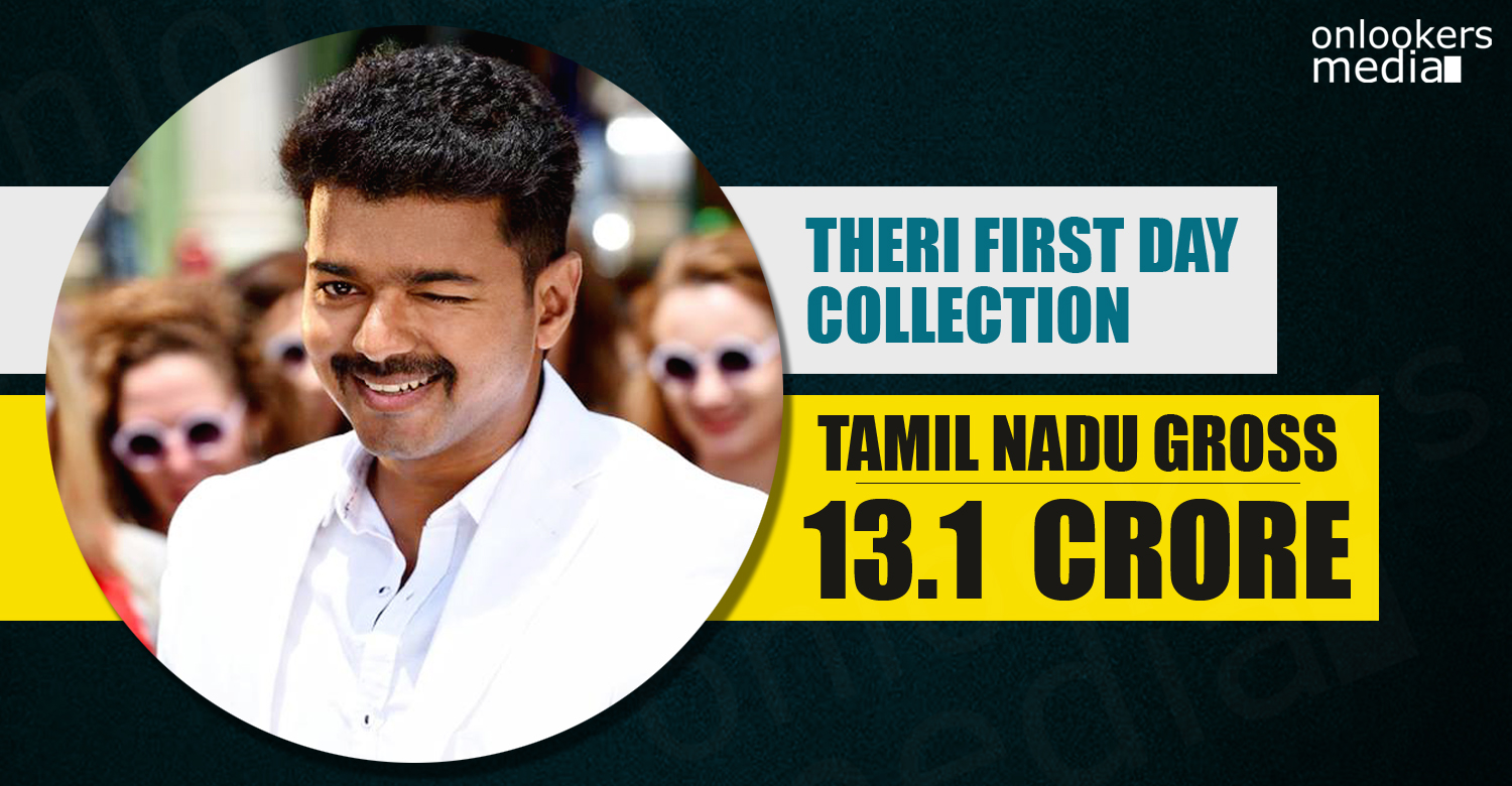 Theri collection report, Theri first day collection report tamil nadu, theri break vedalam collection, vijay ajith