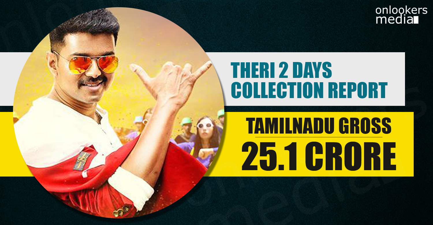 Theri tamil nadu collection, Theri collection report, theri second day collection, vijay theri, theri 2nd day collection tamil nadu