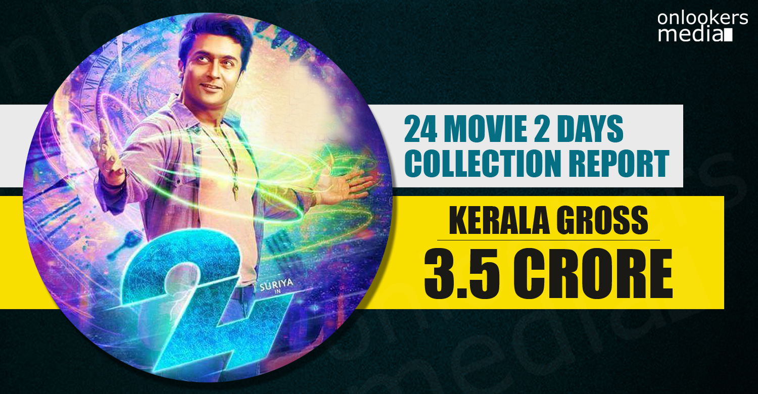 24 movie kerala collection, 24 movie , 24 movie collection, 24 movie 2 days collection, 24 movie second day collection