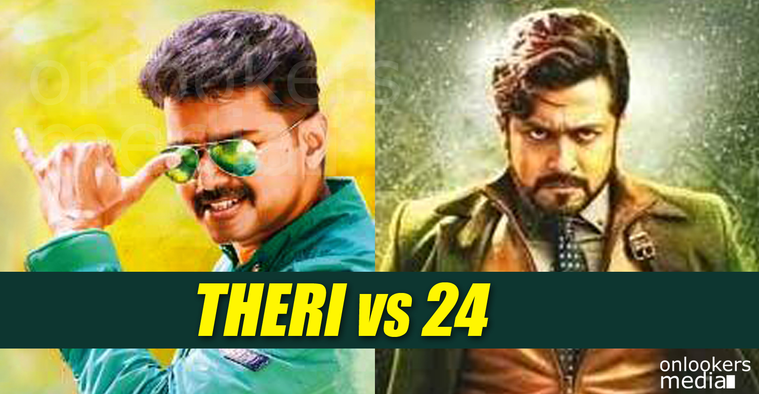 24, Theri, Theri vs 24, vijay suriya, theri or 24 movie, 24 break theri collection, tamil movies 2016