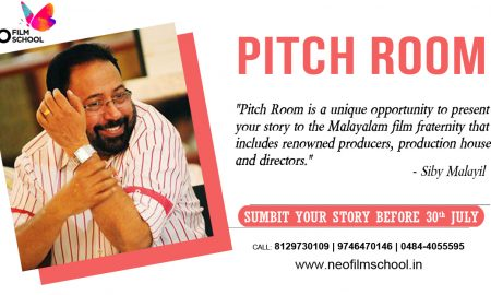 Script Pitching Festival, Pitch Room, Sibi malayil, Neo Film School, neo film school script festival, contact malayalam producers
