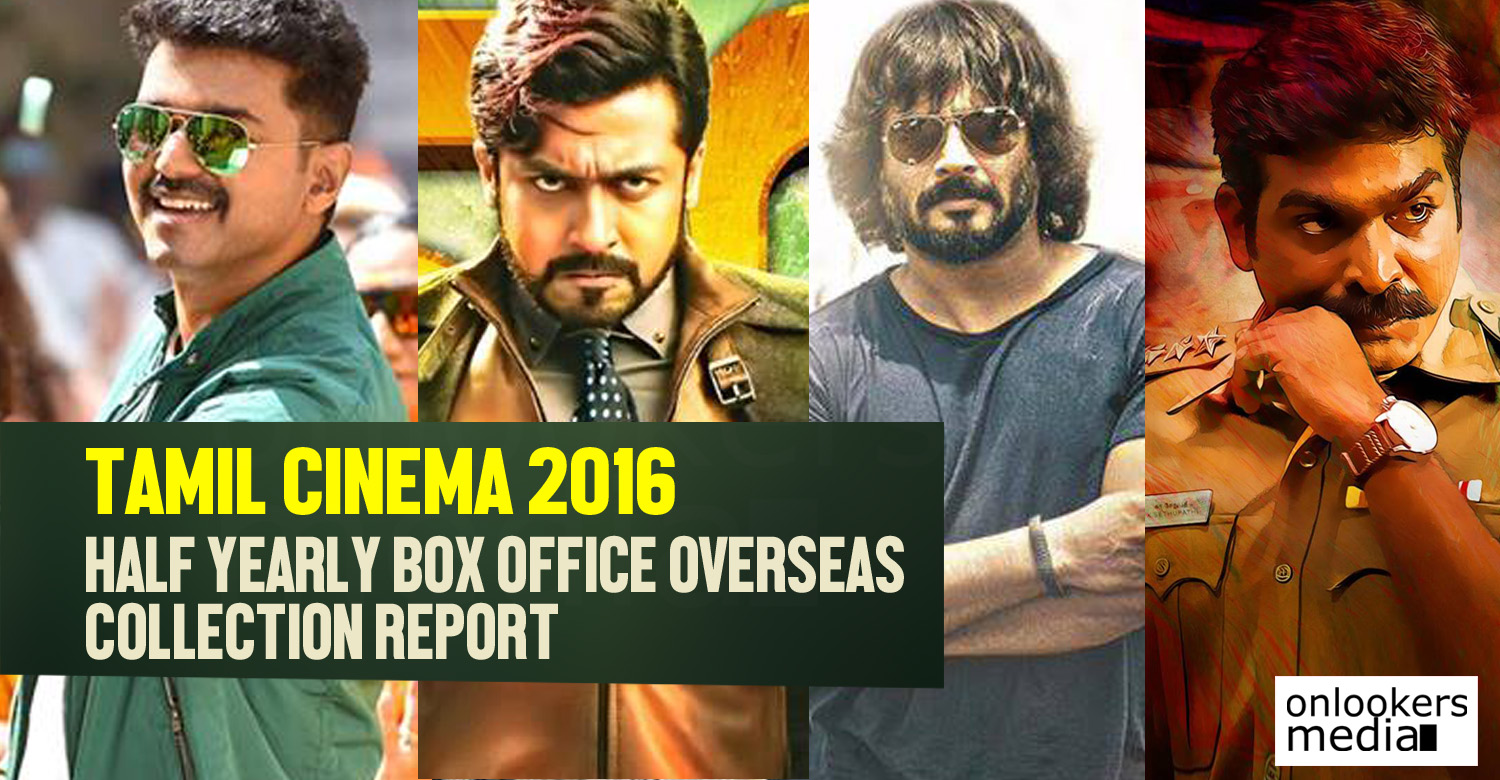 Tamil cinema 2016 half yearly box office collection report - Box office collection news ...