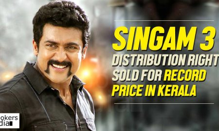Singam 3 kerala rights, Singam 3 pre release business, suriya singam, sopanam entertainment