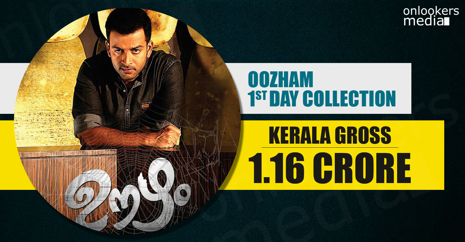 Kerala Box Office collection of oozham, oozham collection report, oozham first day collection, prithviraj hit flop movies, oozham hit or flop,