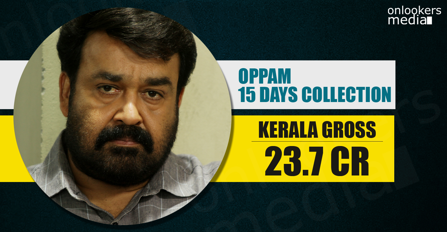 Oppam collection report. Oppam 25 crore collection, mohanlal super hit movie, hit malayalam movie 2016,
