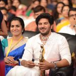 kerala state film awards 2015, dulquer best actor award, parvathy in saree, dulquer white dress, dulquer award function, best actor award in malayalam 2015, kerala state film awards 2016 stills photos images