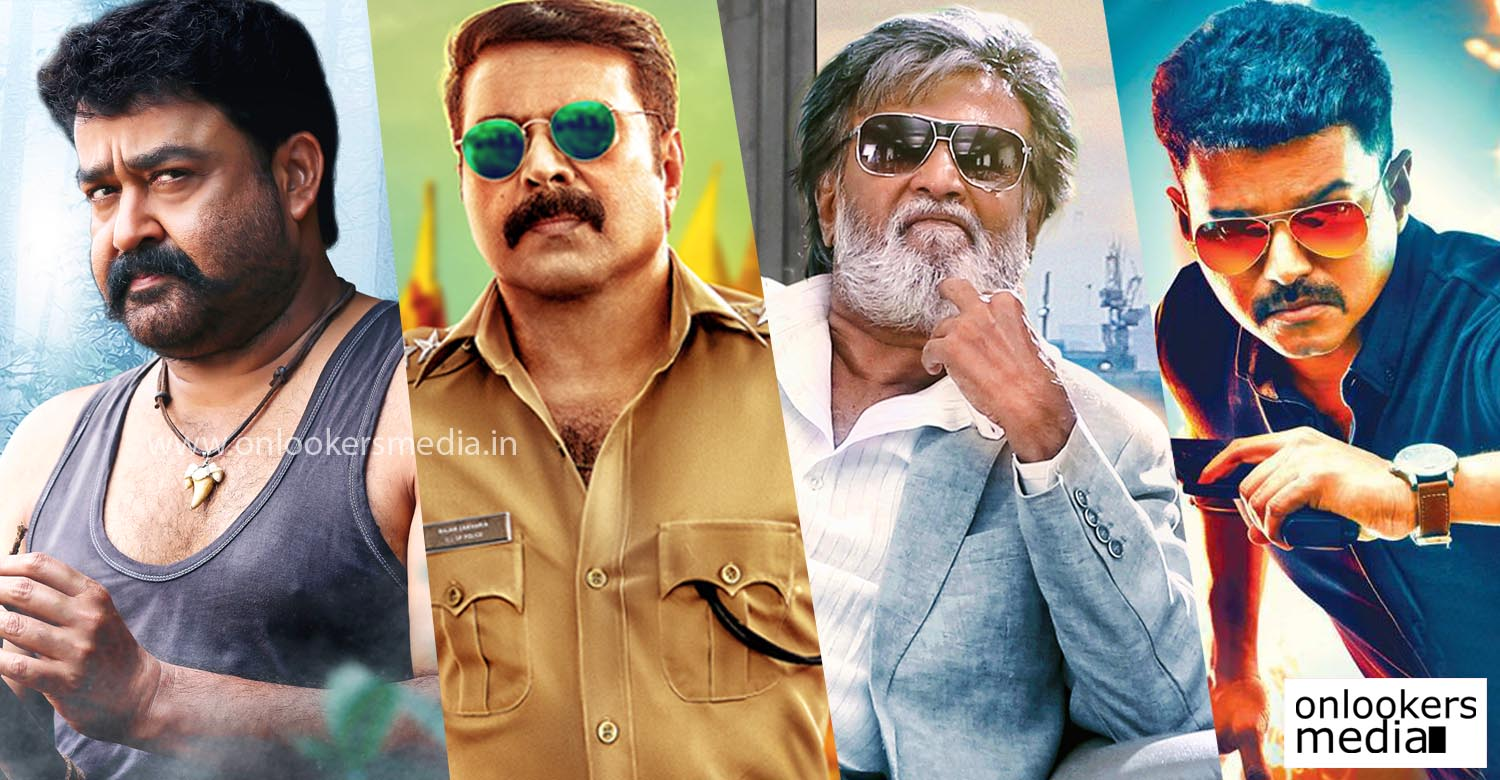 onlookerslive, kabali, pulimurugan, mohanlal collection record, top first day collection in kerala, theri first day kerala collection;
