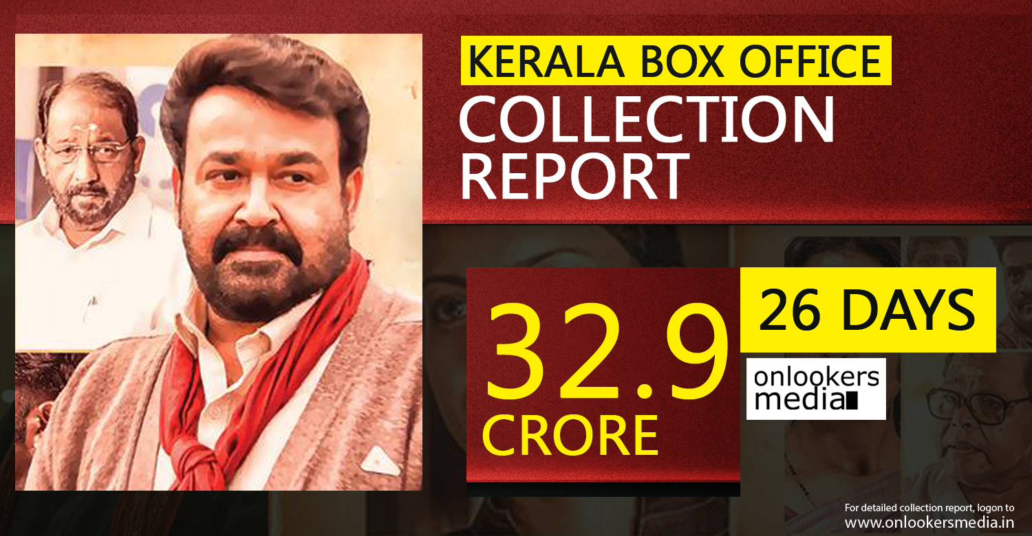 oppam collection report, oppam official collection, super hit malayalam movie 2016, mohanlal blockbuster movie,