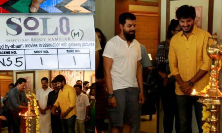 dulquer next movie, dulquer bejoy nambiar movie, Solo malayalam movie, dulquer in solo ,Solo movie pooja stills,