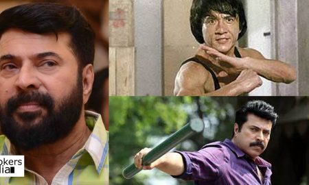 the great father, the great father fight sequence, the great father movie stills, jackie chan, mammootty, mammootty new movie,;
