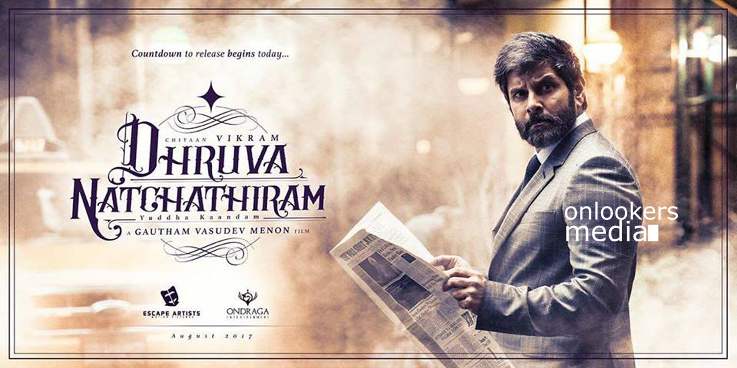 Dhruva Natchathiram, vikram, gautham menon, vikram Dhruva Natchathiram poster stills photos, tamil movie 2016, vikram next movie