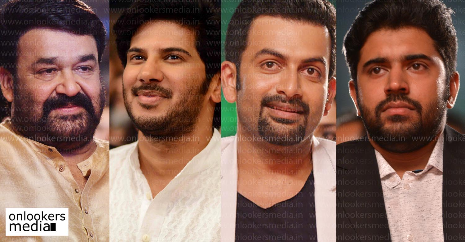Mohanlal, Dulquer Salmaan, Prithviraj, Nivin Pauly, malayalam movie 2017, biggest star in mollywood, who is best actor in malayalam movie, mohanlal dulquer